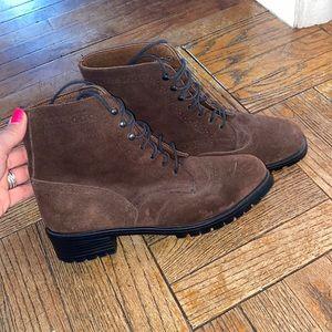 Vintage Eddie Bauer Suede Combat Boots